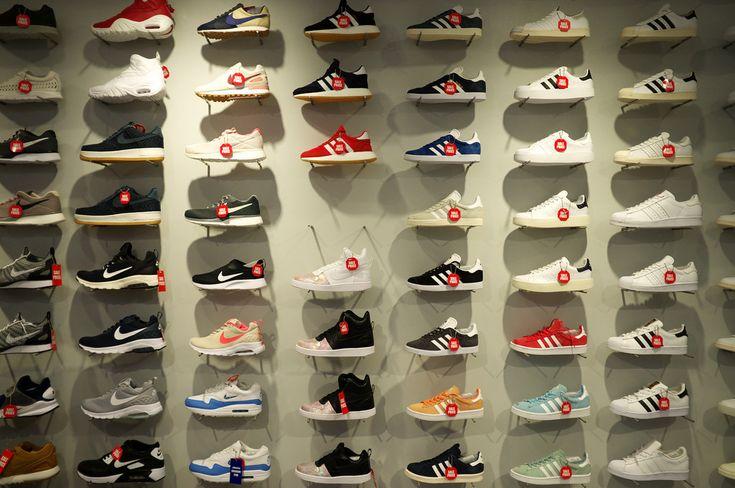 Kyoto Photo Press: Display Atmos Shoes Shop, Nakagyō-ku, Kyōto