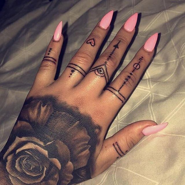 Rose Tribal Tattoos Image By Harriet Taylor Tribal Hand Tattoos Hand Tattoos Finger Tattoos