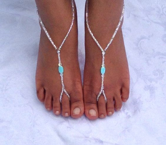 Barefoot sandals Beach Sandals Bridal Jewelry por SubtleExpressions, $17,00