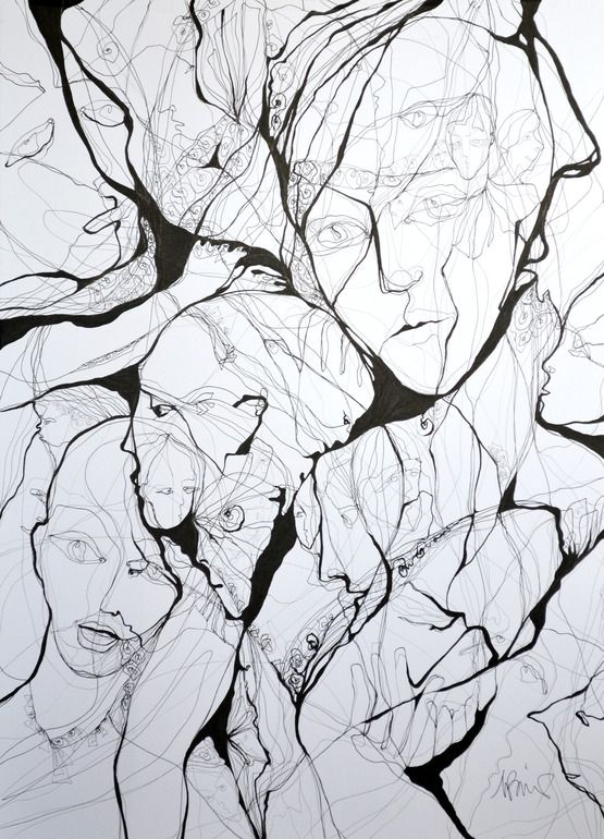 "Saatchi Online Artist: Boicu Marinela; Pen and Ink, 2013, Drawing ""bad dream"""