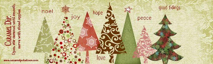 Christmas Caramel printable