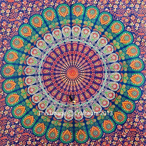 Hippie Dorm Tapestries Bed Cover Beach Blanket Tapestry Indian Mandala Print #CraftAura