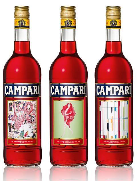 Campari anniversary labels