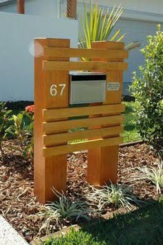 Image result for railway sleeper letterbox