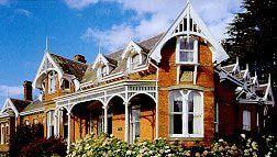 elaborate woodwork on Federation-style Arcoona House, Deloraine, Tasmania