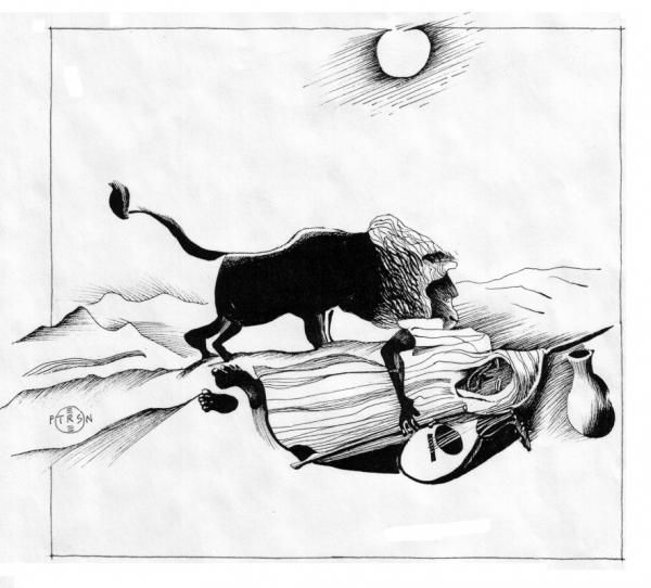 Rousseau Sleeping Gypsy: Art Gallery, Personal Art, Gary Peterson, Rousseau Sleeping