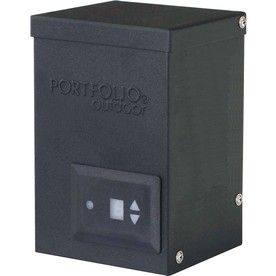 Portfolio 200-Watt 12-Volt Multi-Tap Transformer Landscape Lighting Transformer With Digital Timer With Dusk-To-Dawn Sen