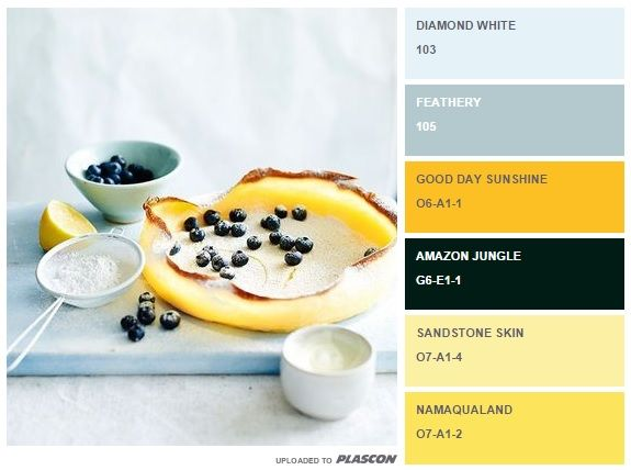 Decadent treats: summer food inspired swatch colours from Plascon http://plascontrends.co.za/summer-food-colour-inspiration-swatch-style/ #summer #colours