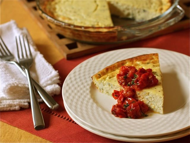 Baked Cottage Cheese With Roasted Grape Tomatoes Recipe