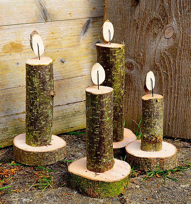 Spectacular Nat rliche Dekorationen f r alle Jahreszeiten Ganz nat rlich aus Holzscheiten sten Moos und noch mehr