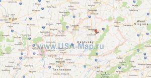 Подробная карта Кентукки