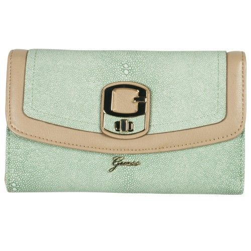 Guess Portefeuille Azadeh Organizer Clutch Natural Multi