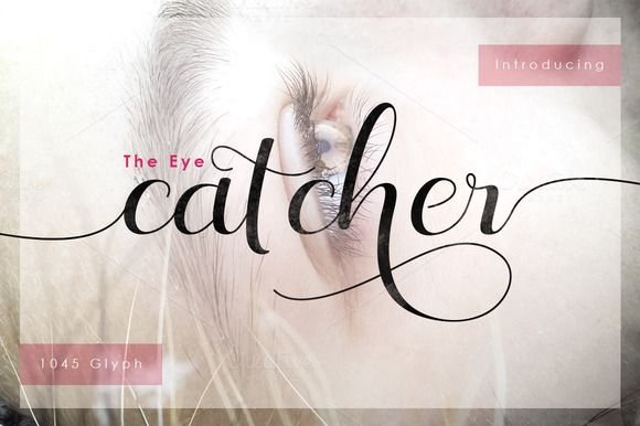 The Eye Catcher + Swashes Off 30% by Fittingline Type Supply on @creativemarket