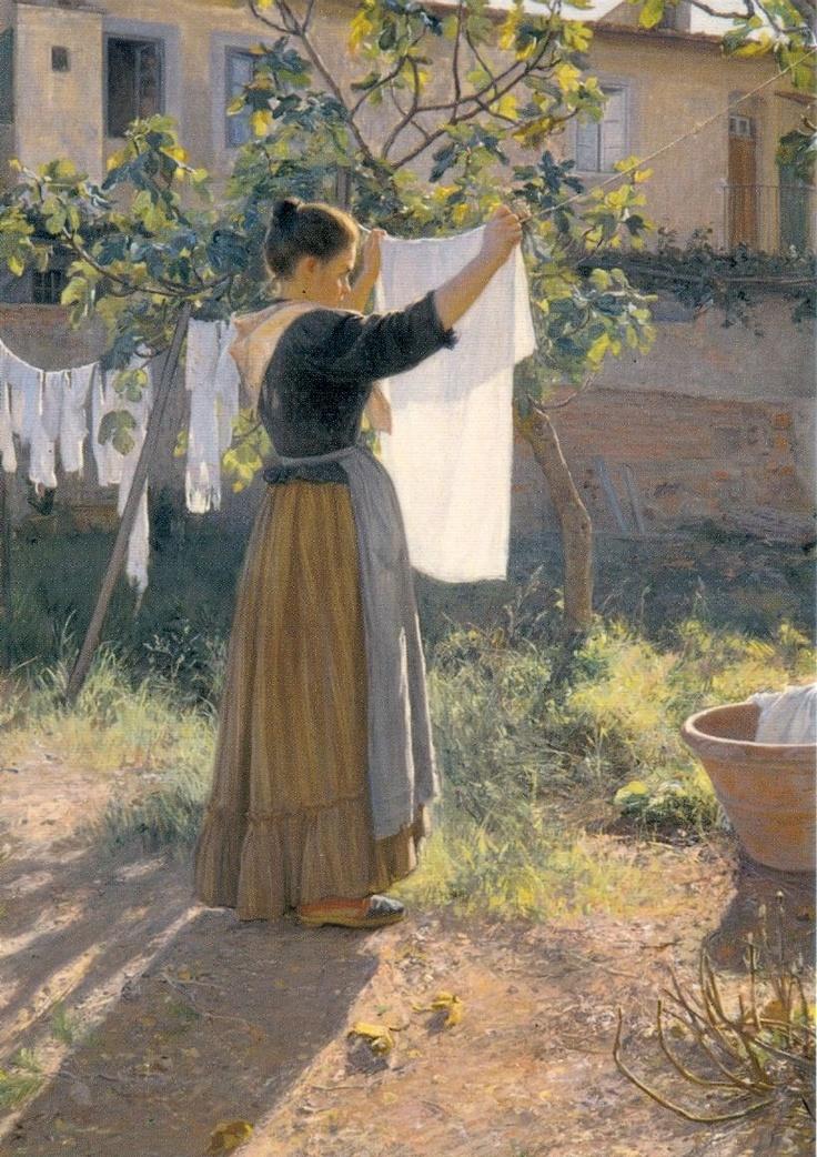 Elin Danielson Gambogi (Finnish,1861-1919): A Sunny Day, 1900