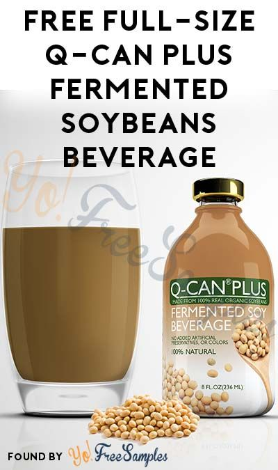 FREE Full-Size Q-Can Plus Real Fermented Soybeans Nutritional Beverage [Verified Received By Mail]