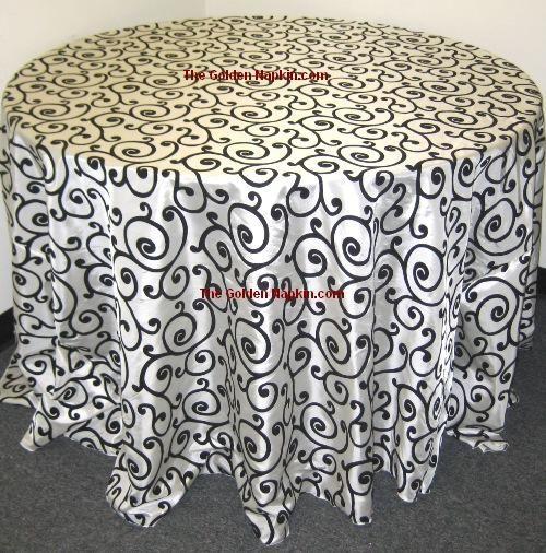 Swirl Taffeta Table Cloths at wholesale price