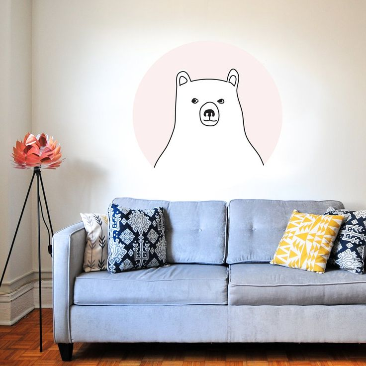 Bear in a Pink Bubble Super fun collaboration with Kismet Decals. A selection of my illustrations are now available as wall stickers. Grab yours at: www.kismetdecals.com  #homeinspo #wallstickers #wallart #childrensroom #kidsroom #kidsroominspo #art #children #kids #cute #bear #pastel
