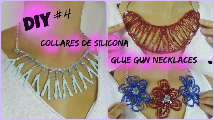 DIY Collares de Silicona / Glue Gun Necklaces