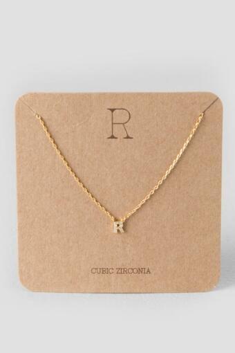 'R' Initial Pendant Necklace