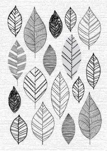 Дудлинг для начинающих узоры листья