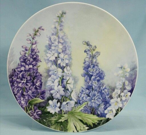 Pretty Lilac Plates--as decor around kitchen?
