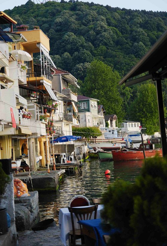 Anadolu Kavağı lies at the entrance of the Anatolian side of the Bosphorus from the Black Sea,great place for a quiet day trip,with little fish restaurants,waffle and ice cream corners...just opposite, on the European side is Rumeli Kavağı