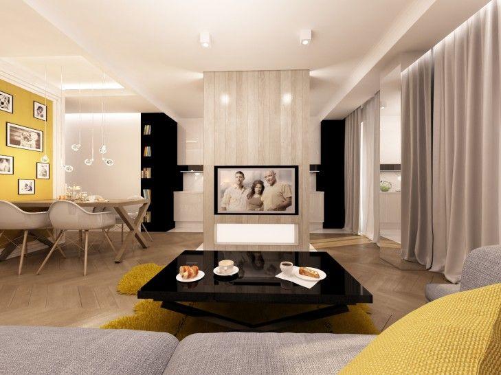 Projekt wnętrz mieszkania w stylu eklektycznym w Warszawie - Tissu