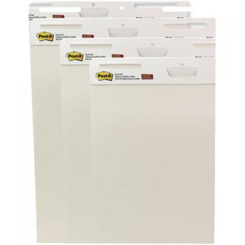 Post-it® Self-Stick Easel Pads, White Unlined, MMM559VAD4PK