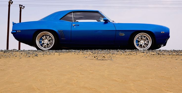 """You're in the middle of a UAE desert, behind the wheel of this gorgeous #Camaro, and there is nothing around but sand and asphalt; what do you do? Salem Ali's """"ZR9"""" 1969 Camaro was built by V8 Speed & Resto using almost 100% new parts, including a brand new Dynacorn body shell. It's powered by a 804HP 427ci Mast Motorsports engine with #Forgeline #GA3 wheels finished with Polished Centers, Polished outers, & Silver inners! See more at…"""