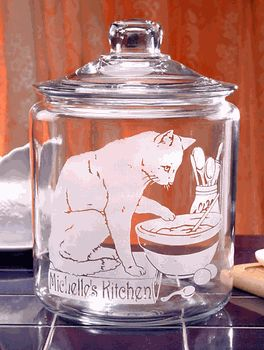 Personalized Cat Cookie Jar