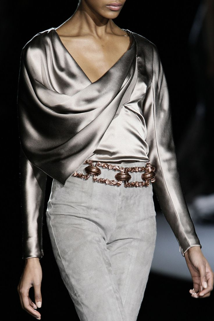 Spectacular use of fabric. The light and movement of this piece are typical amazing Carolina Herrera Fall circa 2009