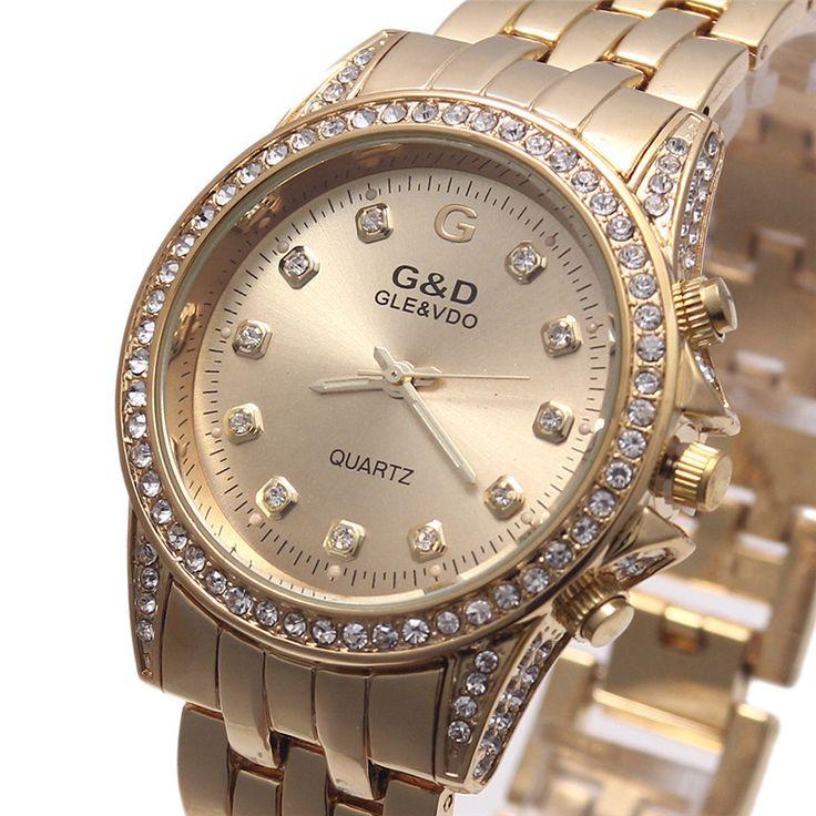 US $99.99 - Relogio Feminino G&D 2016 Women Watches Luxury Brand Fashion Wristwatches Men Michel Watch Rose Gold Clock Reloj Muje P88