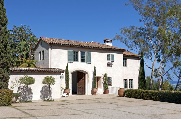 Montecito Real Estate Vintage Italian Mediterranean Villa