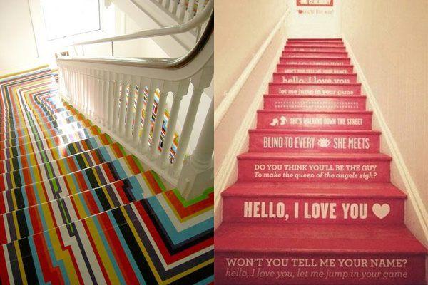 17 beste idee n over geschilderde trap op pinterest trappen schilderen verf trap en kelde - Hoe om te schilderen een trap ...