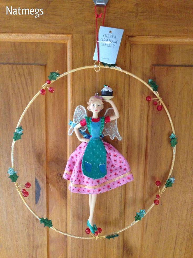 GISELA GRAHAM~CHRISTMAS FAIRY IN RING~QUEEN OF KITCHEN~ANGEL CAKES~FREE POST UK EBAY