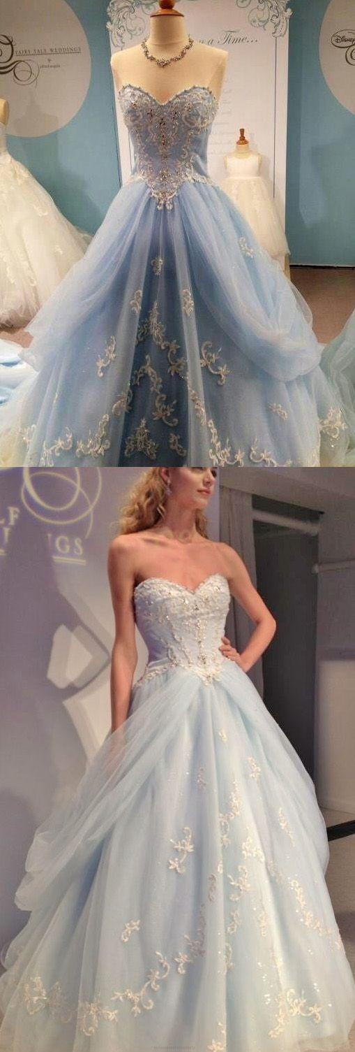 Princess Evening Dresses,Light Blue Evening Dresses,Long Prom Dresses With Applique,Sweetheart Prom Dresses,Beading Prom Gown #blue #puffy #tulle #sweetheart #prom #princess #okdresses