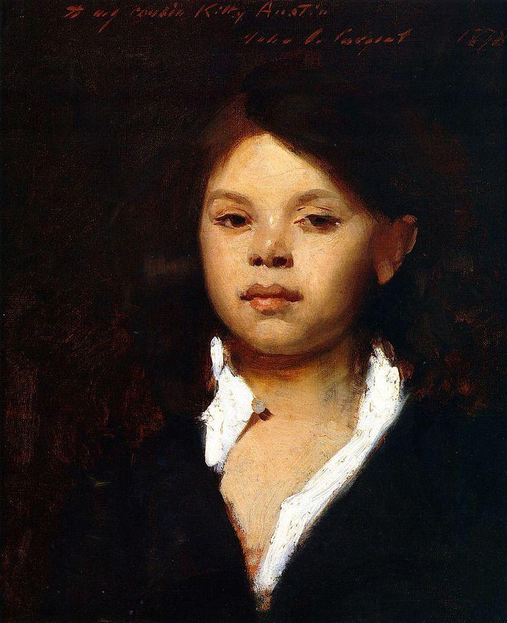 Head of an Italian Girl (1878) by John Singer Sargent.