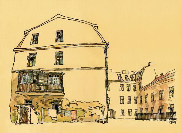 UZUPIS #1, Vilnius Old Town, Lithuania, Canvas Print
