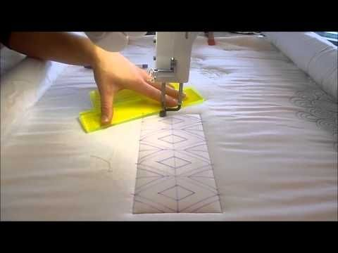 Judi Madsen of Green Fairy Quilts shows you how to mark and quilt her diamond sash quilting design using her A-1 Longarm.  She recently finished a quilt called Evening Bloom using this design.  You can view that quilt on her blog - www.greenfairyquilts.blogspot.com  Thank you!