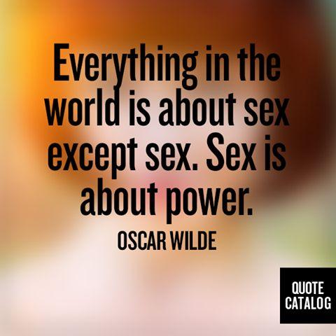Oscar wilde sex quotes