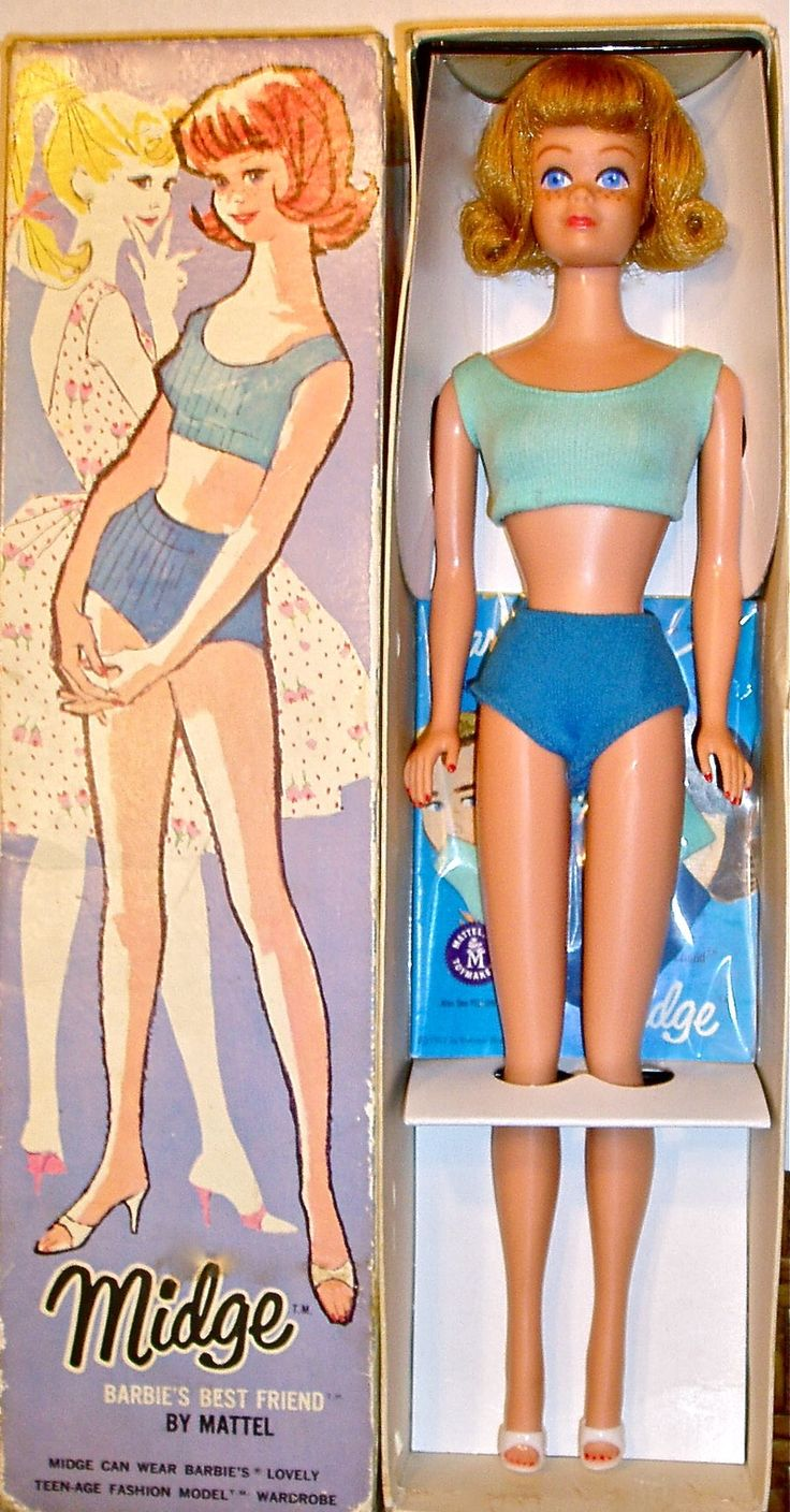Midge, Barbie's friend, first released in 1963