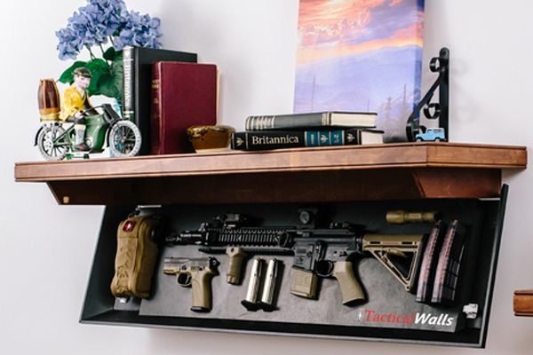 Tactical Walls' Concealment Rifle Length Shelf | VIDEO