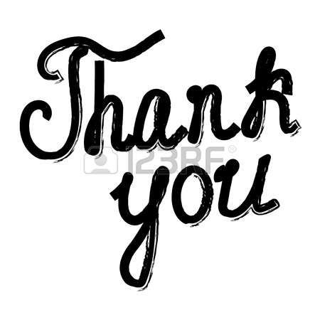 text  Thank You  on a white background photo