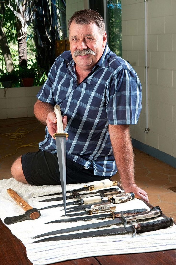 Steve Sunk forges knives and swords that are carefully crafted to be both functional and durable, with many ending up as collector's items.