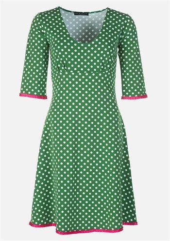 Køb Mania kjole Stella dot green pink online hos DenckerDeluxe