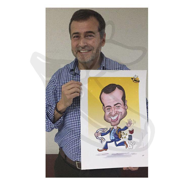 caricaturas regalo papa noel y reyes magos