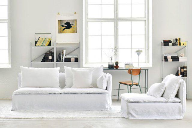 Un canapé pour le printemps blanc en lin, Bemz