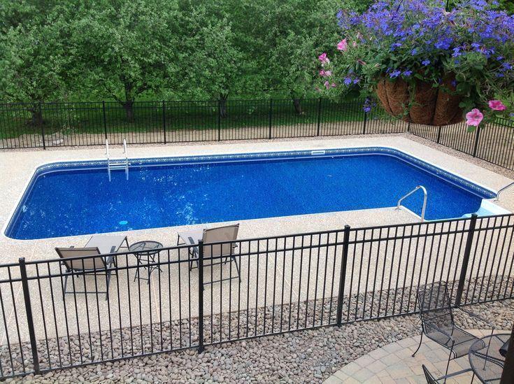 16x32 inground pool with fence - Google Search | Backyard ...