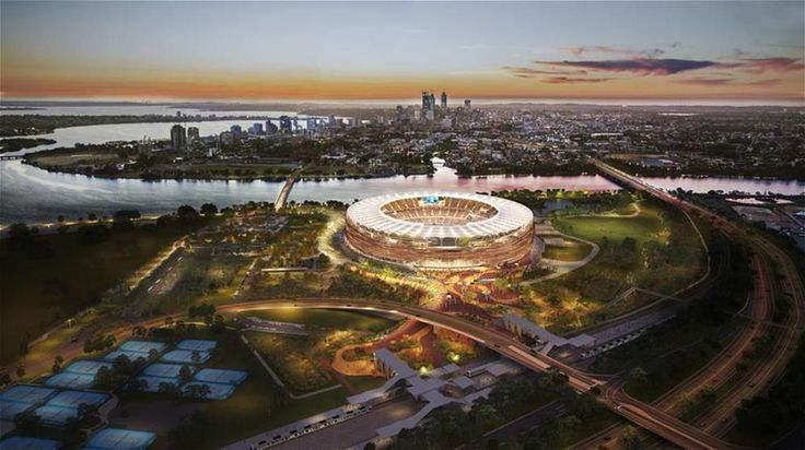 The new Perth Stadium and Sports Precinct