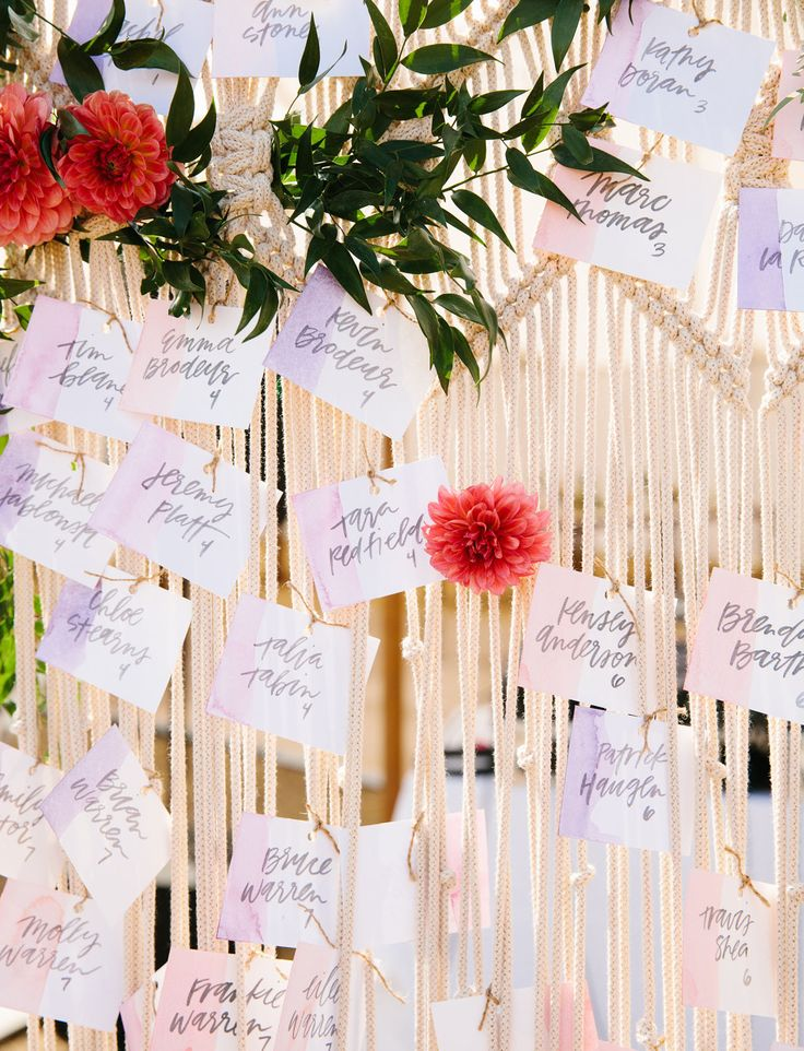 macrame escort cards